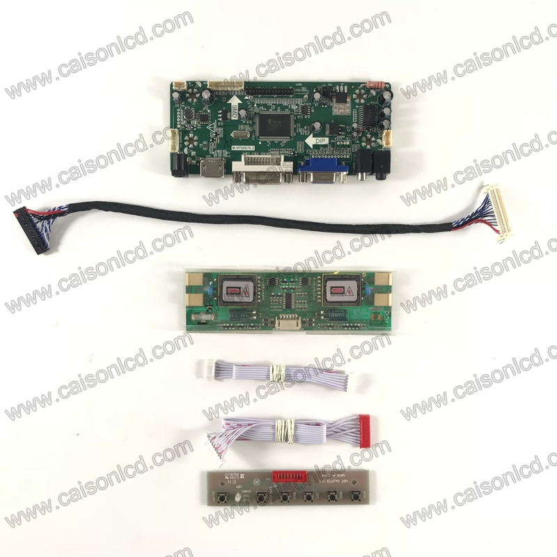 NT68676 LCD controller board support HDMI DVI VGA AUDIO for LCD panel 19 inch 1280X1024 with 4 CCFL LCD panel repair easy diy m nt68676 2a vga dvi hdmi led screen controller board for 10 11366x768 n101bge l31 lcd panel repair diy kit plug and play
