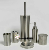 stainless steel 6 pieces bathroom set