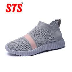 Новые весенние Для женщин дышащая сетчатая повседневная обувь Для женщин женские мягкие удобные кроссовки ленивый человек педаль