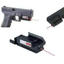 Тактический пистолет винтовка Красная точка лазерный прицел для Glock 17 19 20 21 22 23 30 31 32 Вт/weaver/Пикатинни 20 мм