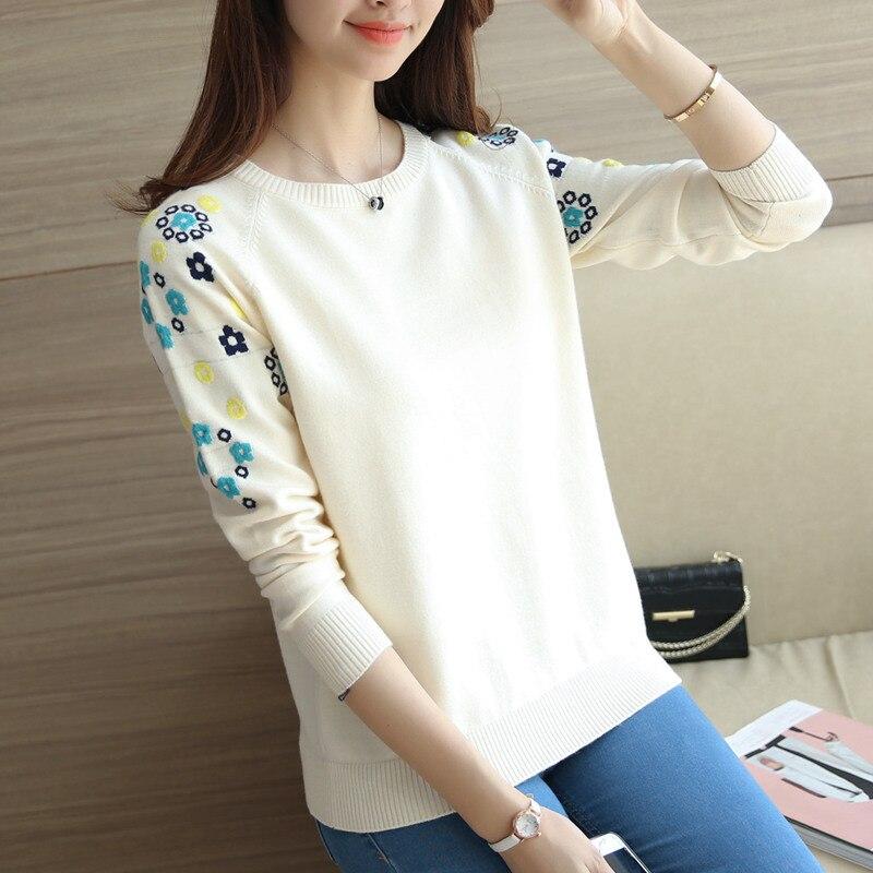 2017 nueva otoño amor Sue recta suéter suéter cabeza de la manga camisa de vesti