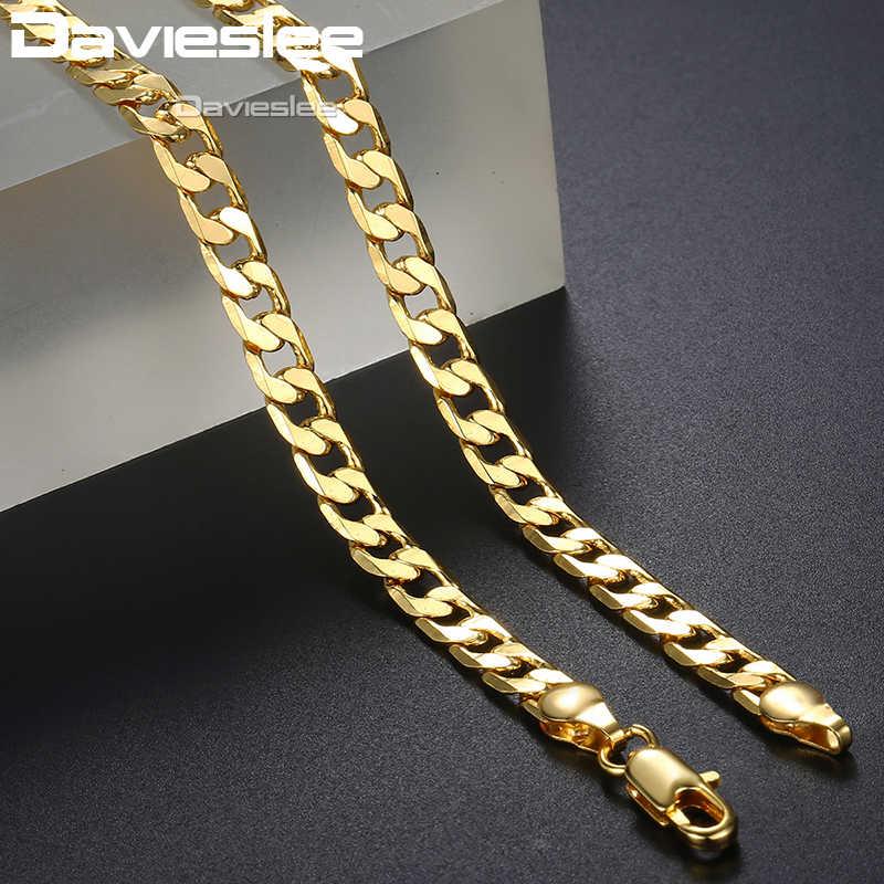 שרשראות לגברים נשים גולדפילד לרסן קובני קישור זהב שרשרת Mens שרשרת Dropshipping סיטונאי תכשיטי אופנה מתנה LGNM50