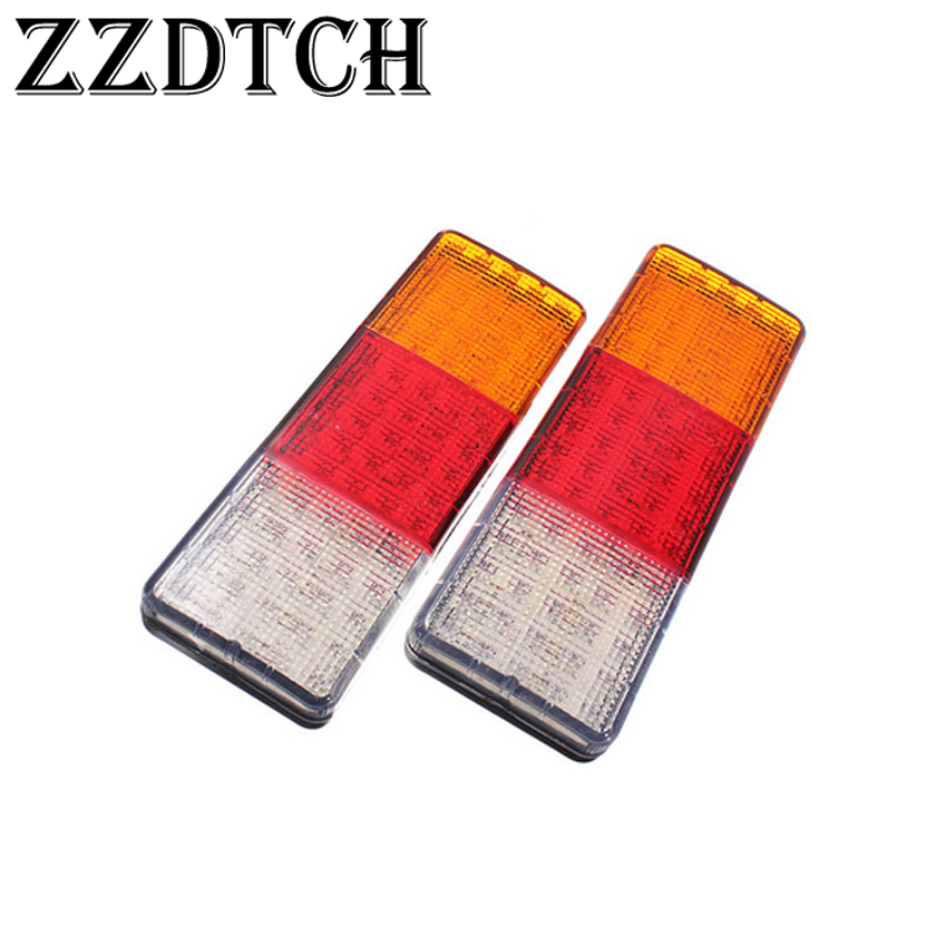 ZZDTCH 2PCS <font><b>12V</b></font> 75 Led Truck Tail <font><b>Lamp</b></font> Trailer Bus <font><b>E4</b></font> image