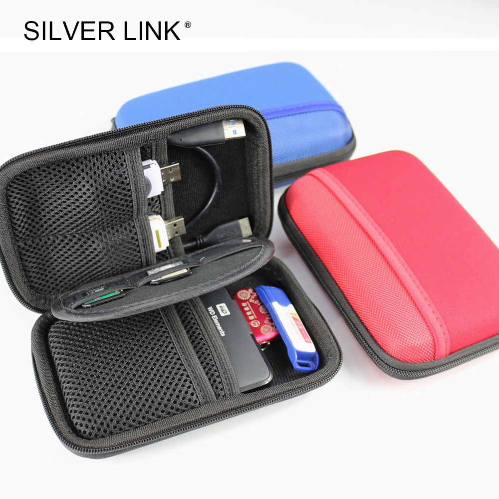 SILVER LINK 2.5in HDD SSD Protector Bag Hard Drive Disk Case Phone Computer Accessories Storage Holder Drop Resistance Cable kingma lp e6 2 slot usb battery charger for canon eos 5d mark iii 6d 7d mark ii 7d 70d 60 60da