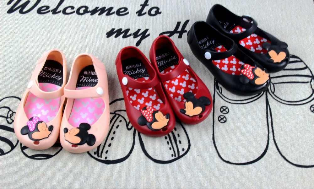 80cf7ff5 ... Minnie Mouse Zapatos Sandalias Mini jalea Sandalia para bebés niñas  niños verano lindo dibujos animados playa