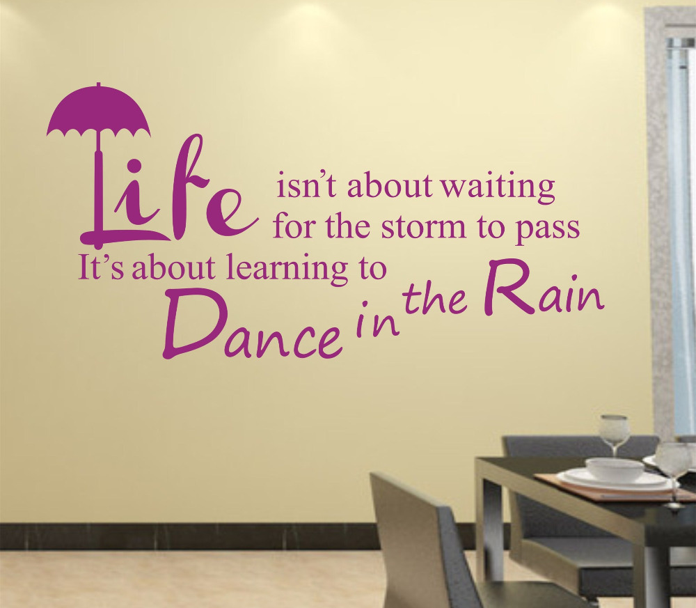 Quote Wall Decal Decor Life Sticker Text /Quote/Stickers Vinyl ...