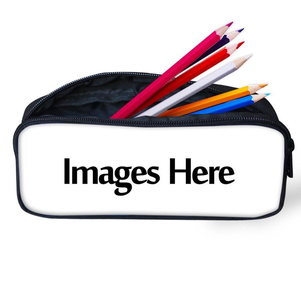 ELVISWORDS Dropshipping 3D Pattern Kids Cartoon Pencil Case Students Office Stationery Box School Supplies Pen Bag Zipper Pouch