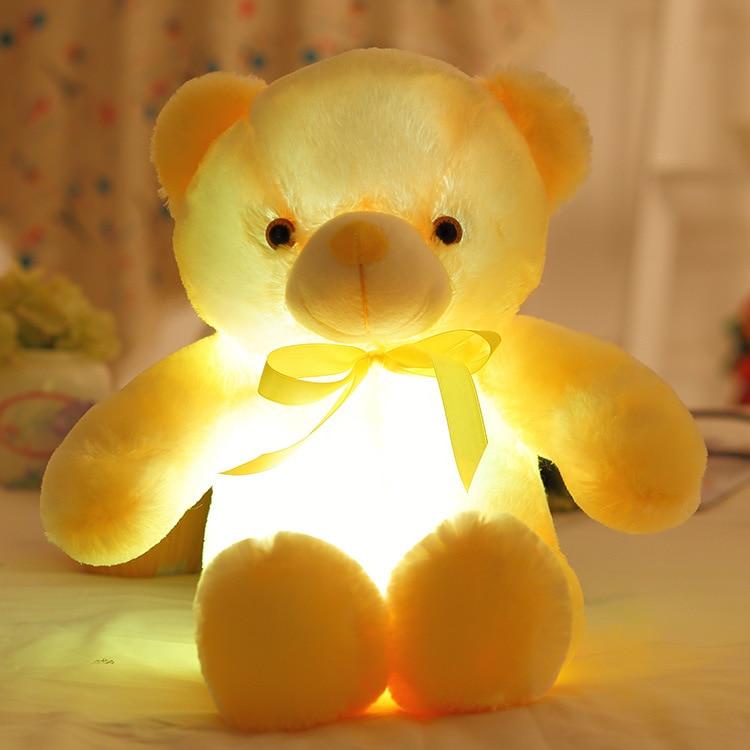 Hot 50cm Colorful Teddy Bear Peluches Kawaii Luminous Teddy Bear - Muñecas y peluches - foto 4