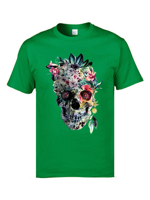 Voodoo Flower Skull Short Sleeve Casual Top 10
