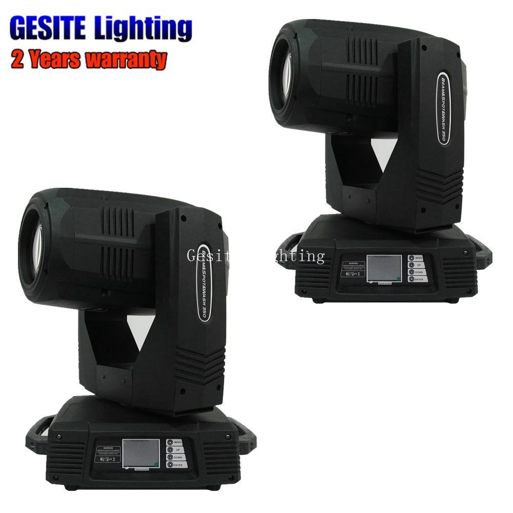 2PCS/LOT High brightness Spot Wash 3in1 Moving Head Light 350W Beam 17R Stage