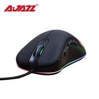 [Versione aggiornata] Ajazz AJ118 Wired Gaming Mouse 6 Colorato Retroilluminazione Mouse Gamer Mouse Full-chiave Macro di Programmazione a3050 Circuito Integrato