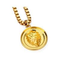 Statement Stainless Steel Lion Pendant Necklace Hip Hop Titanium Jewelry New Punk Big Pendant Collier