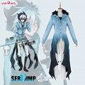Kuro Uwowo SERVAMP Anime Ceniza Sueño Azul de Poliéster Traje de Cosplay