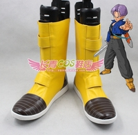 Dragon Ball Z Trunks Jaune Halloween Adulte Cosplay Chaussures Bottes C006