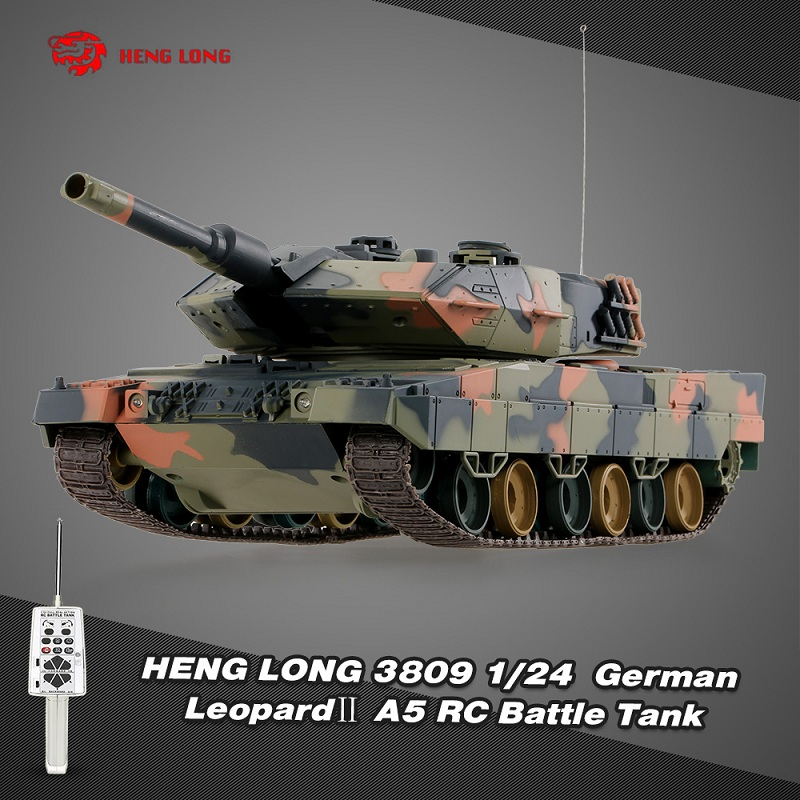 Henglong 3809 1/24 German Leopard A5 Airsoft Battle Panzer RC Tank with Programming Function 320 Degree Turret Rotating ohs meng ts007 1 35 german main battle tank leopard 1 a3 a4 afv model building kits