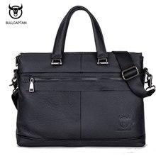 BULL KAPITÄN männer LEDER AKTENTASCHE FÜR BUSINESS fashion berühmte marke weichen griff tote umhängetasche 15 zoll laptop-tasche #040