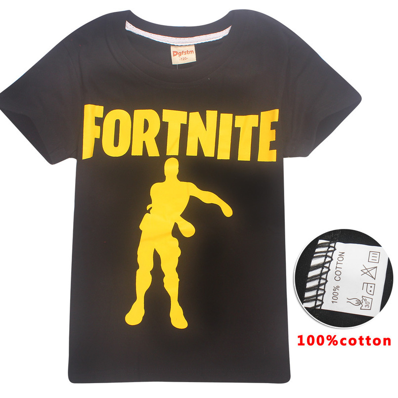 e9401c758 2018 Fortnite summer Hello neighbor pure cotton t shirt for boys short  sleeve T-shirts black children girl clothes for youth