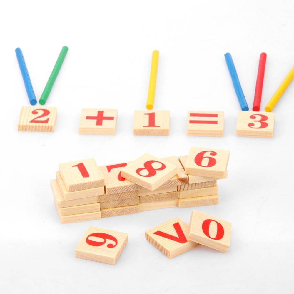Barn Träleksaker Matematik Nummer Pussel Leksaker för barn Kid - Lärande och utbildning