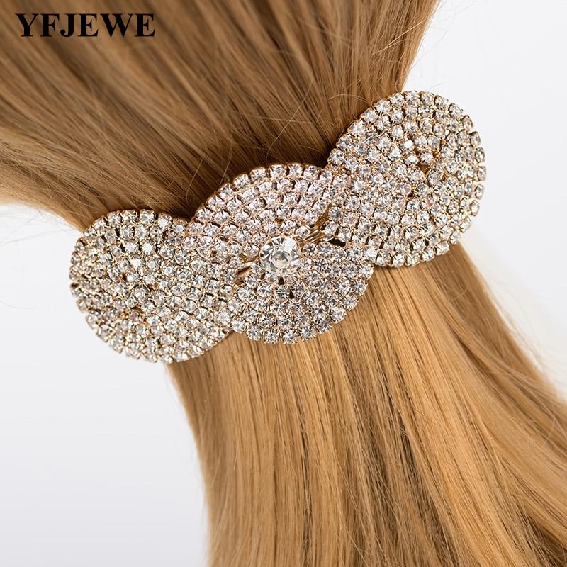 YFJEWE Barnd Design Women Vintage Fashion Hair Jewelry Charm Women Barrettes Retro Hair Wear Accessories Wedding Gift #H060