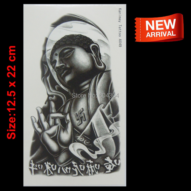 Tatuajes Retrato tatuaje temporal of the buda tatuaje impermeable para hombre body