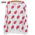 J&W 2015 Autumn New Arrival Sweatshirts Harajuku Women Cute Elephant Printing Hoodies Cute Pullovers Sweatshirts  Women Clothes