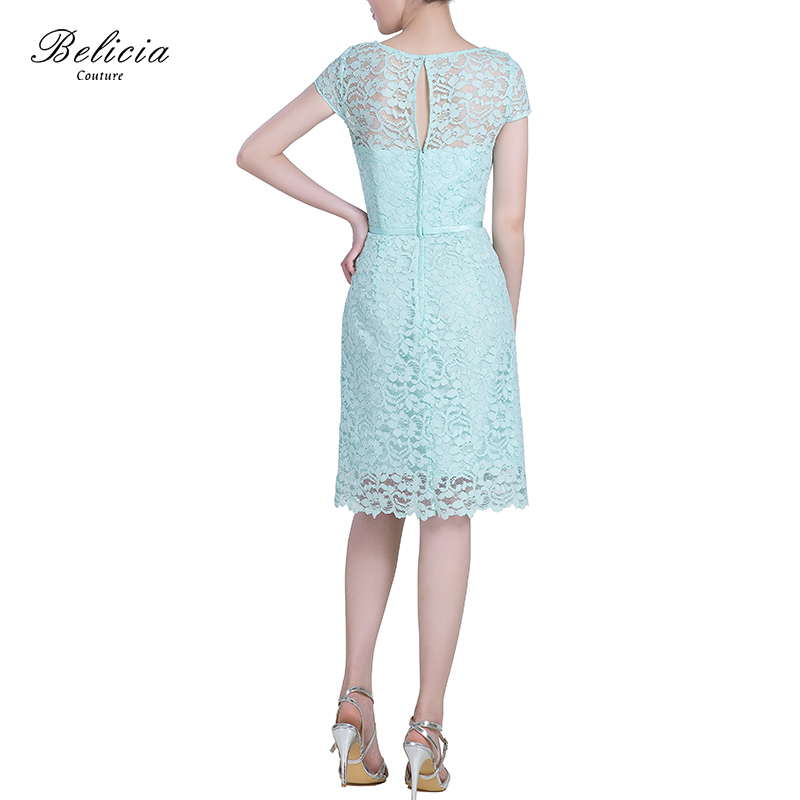 383df68a664 Belicia Couture Women Cocktail Dresses Black and Mint Green Prom Dresses  Lace O Neck Party Dress A Line Casual Dress-in Cocktail Dresses from  Weddings ...