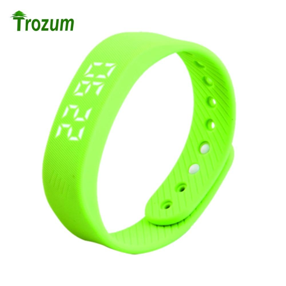 TROZUM T5 multi functional smart bracelet 3D T5 LED Display Sports Gauge Fitness Bracelet Smart Step