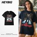 Urso BONITO de impressão Tee 2017 HEYBIG Kanye West SS novo Curta tshirts homens e mulheres tamanho asiático clothing manga grandes estaleiros de lazer topos