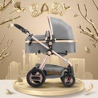 Европейский взрыв корзину Высокая Пейзаж коляска четыре колеса легкий складной может сидеть Лежащая новорожденных тележка