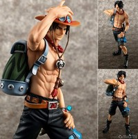 23cm Anime ONE PIECE PVC Figure Portgas D Ace Dolls Toy 10th Limitrd Ver Online Game Collection Decor Figurine Brinquedos