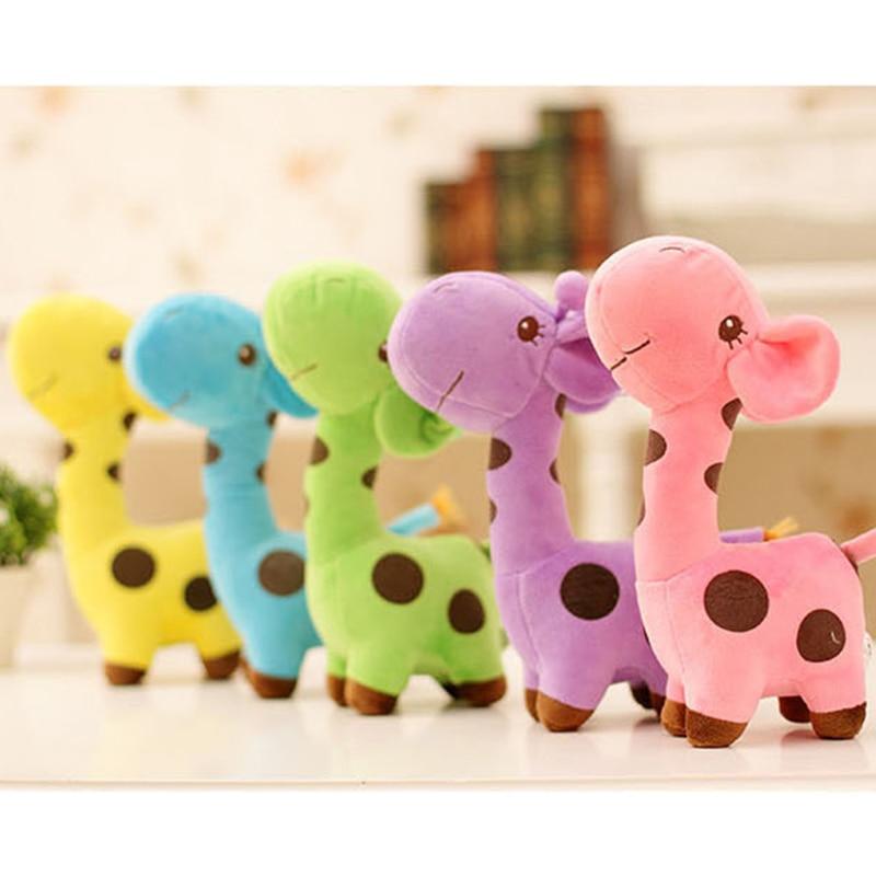25 CM Soft Rainbow Spot Giraffe Stuffed & Plush Toys Dolls For Kids Kawaii Girl Gift Wedding Toys For Children Girlfriend F043 stuffed toys for children dolls giraffe plush nano doll christmas gudetama emoji unicorn fun soft plush 80a0583
