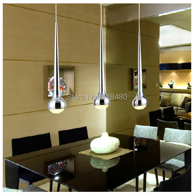 Modern LED 15W Crystal Chandeliers lights 3 Drop lamp shade Bar counter light kitchen dining hall lighting Guaranteed 100% 8995