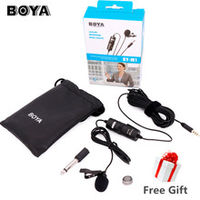 BOYA BY-M1 Lavalier Omnidirectional Condenser Recording Microphone for iPhone DSLR Camcorder Audio Recorder Broadcasting BY-M1