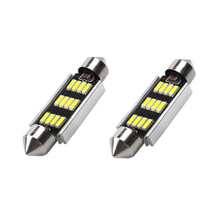 Image 2 - 2 uds., luz LED de 42mm, 6500K, blanco, SMD, domo de coche, lámpara de lectura de doble punta, bombilla LED para techo, lámparas para mapas de coches, luces de cúpula