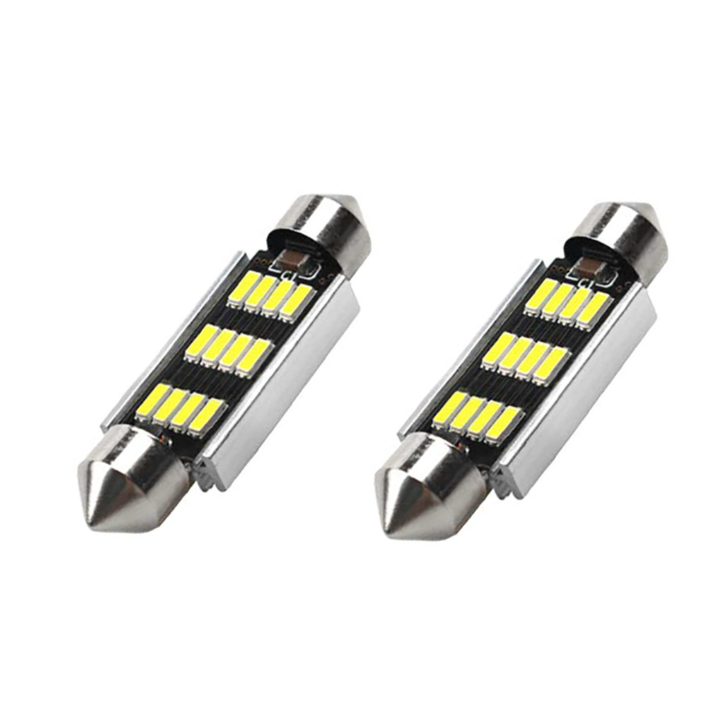 Image 2 - 2Pcs 42mm LED Light 6500K White SMD Car Dome Double Tip Reading Lamp Roof Bulb LED Lamps For Cars Map Dome Lights-in Signal Lamp from Automobiles & Motorcycles