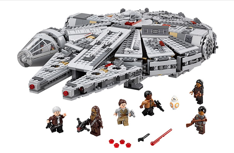 LELE 79211 Star Wars Millennium Falcon Outer Space Space Ship Building Blocks Model Toys Gift Compatible