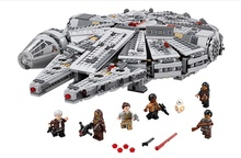 LELE 79211 Star Wars Millennium Falcon Outer Space Space Ship Building Blocks Model Toys Gift Compatible with lepin 05007