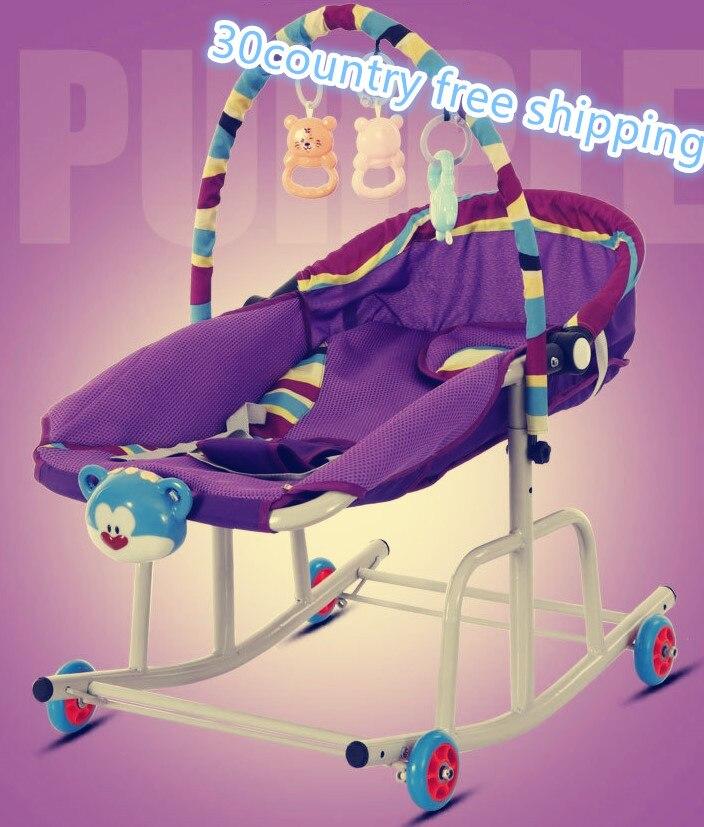 10 in1 bébé lit à bascule facile poussette dormir lit sauteurs balançoires jouet voiture mobile bébé marcheur enfant en bas âge voiture ski traîneau jouet gratuit