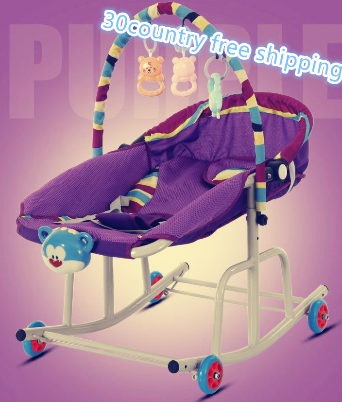 10 In1 Baby Rocking Bed Easy Stroller Sleeping Bed Jumpers Swings   Toy Car Moving Baby Walker Toddler Car Ski Sled Toy Free