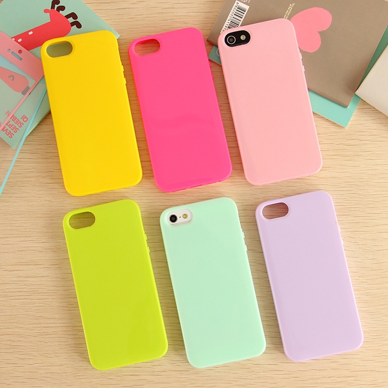 sports shoes 7a1e7 e353b US $1.64 13% OFF|Solid Candy Color Rubber Case for iPhone 5 5s Case Silicon  Soft TPU Cover Mobile Phone Cases Bag for Apple iPhone 5S iphone5 i5-in ...