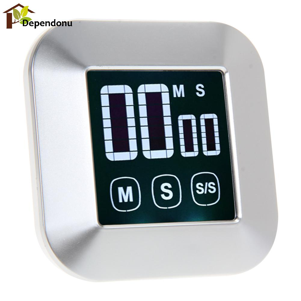 0-99 Minutes ABS LCD Digital Touch Screen Practical Kitchen Timer with Backlight Cooking Tools Digital Timer with Alarm Clock