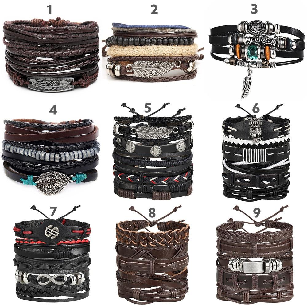 Multilayer Leather Bracelet Men Fashion 2
