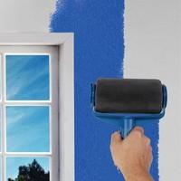 Paint Runner Pro Roller Brush Handle Tool Flocked Edger Room Office Wall Painting Home Garden Tool