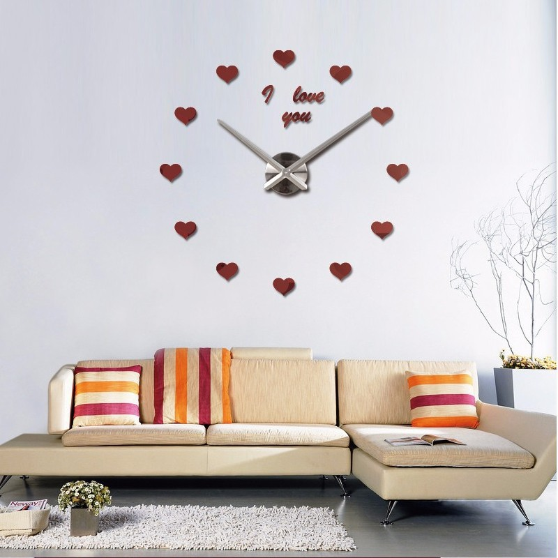 Aliexpress.com : Buy 2017 Vintage Wall Clock 3d Acrylic Large Wall Watch  Clocks Reloj De Pared Living Room Modern Design Mirror Stickers Horloge  From ... Part 76