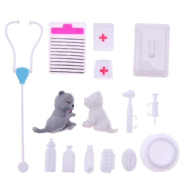 Puzzle Educational Toy Doctor Nurse Medical Role Play for Girls Doll Play House Accessories Plastic Children's Toys Gift