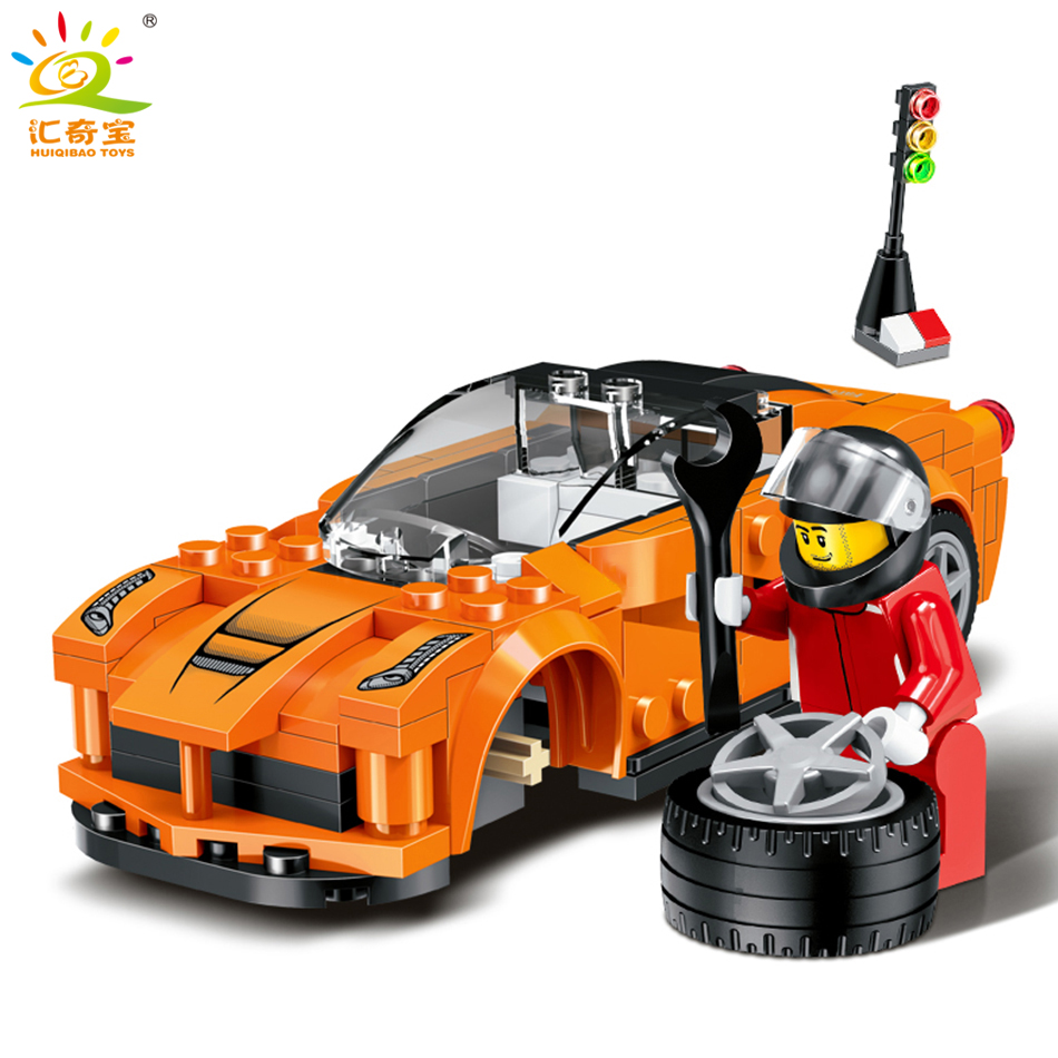Super Speed Racing Car 3D Model Building Blocks Sets Compatible legoed City Technic Figures Bricks Toys for Children Boy's Gift big particles model building blocks forest paradise house sets children toys diy city bricks compatible with duplo birthday gift