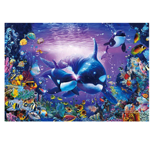 DIY diamond painting sea world dolphin fish embroidery Marine life Coral Mosaic cross stitch decor