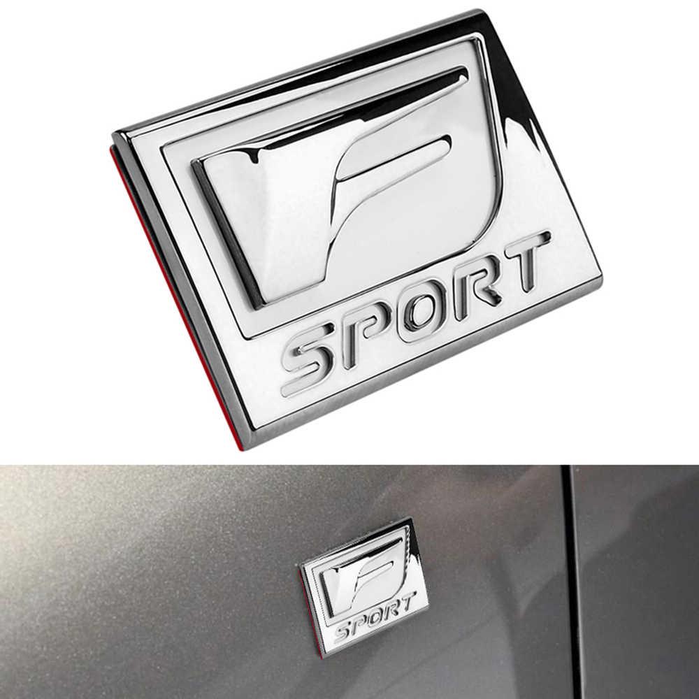 F SPORT naklejka z Logo po stronie samochodu błotnik ciała list Logo tabliczka znamionowa 3D dla Lexus CT jest ES GS LS NX GX RX LX LC RC SC akcesoria
