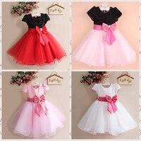 new 2015 summer clothing girl's dress,princess dress,big bowknot Party dresses,kids fashion clothes wedding dress