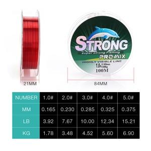 Image 3 - 100 m Nylon ligne de pêche Super forte Nylon/Monofilament ligne matériel japonais fil pour carpe fil de pêche/cordon/chaîne 4 ~ 15LB